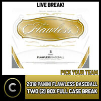 2018 PANINI FLAWLESS BASEBALL 2 BOX (FULL CASE) BREAK #A314 - PICK YOUR TEAM