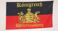 FAHNE FLAGGE 0381 KÖNIGREICH WÜRTTEMBERG FURCHTLOS UND TREU WAPPEN+SCHRIFTZUG