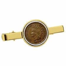 New American Coin Treasures 1800's Indian Penny Goldtone Tie Clip 13766
