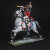 Tin soldier, Trumpeter of the 5th cuirassier regiment, Napoleonic Wars, 54 mm