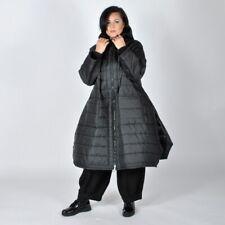 Shirt Tunika Jersey Gestreift Anthrazit XADOO Lagenlook Plus Size 48 50 52 54