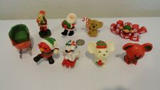 9 Vtg Hallmark Merry Miniature Christmas Figurines