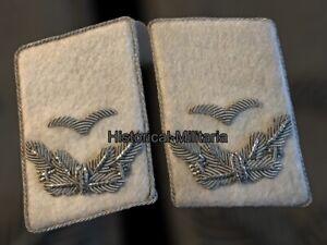 LUFTWAFFE mostrine divisione H.G. Sottotenente 2nd Lieutenant collar tabs
