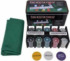 More details for new! poker set - 200 piece texas hold em chips cards dice decks casino case