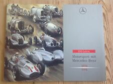 Mercedes Benz 100 years 1894 - 1994 rare Motorsport book