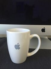 Authentic Apple Computer Inc White Coffee Cup Mug Grey Apple Logo 16 oz.