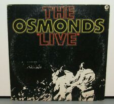 THE OSMONDS LIVE (VG+) 2 SE-4826 LP VINYL RECORD
