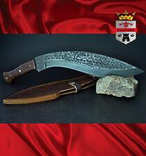 Damascus machette, 026 Kukri KingForge. jungle knives bush knife hunting gift