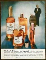 1959 Walker's DeLuxe Bourbon Whiskey PRINT AD Born Great Matured to Magnificence
