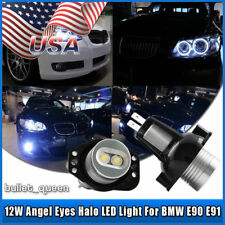 2x 6W High Power BMW Angel Eyes E90 E91 3 Series LED Light Ring Bulbs White Halo
