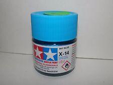 Tamiya Color Acrylic Paint Mini Sky Blue #X-14 (10ml) NEW