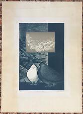 Lyzette Rosado Serigraph Dejenlas Volar Pigeons 1977 Puerto Rico Signed 283/500