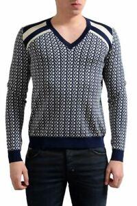 Prada Men's Silk Multi-Color V-Neck Sweater Size XS S M