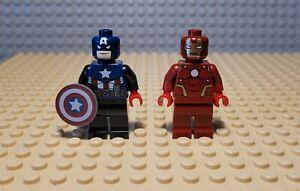RARE Marvel LEGO 2012 Toy Fair CAPTAIN AMERICA & IRON MAN Minifigures