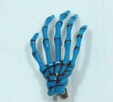 Pair of Skeleton Hand Hair Clip BLUE Halloween Costume Spooky Creepy
