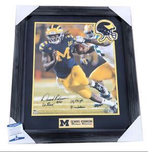 Denard Robinson Signed Michigan Wolverines Framed Matted 16x20 Photo Beckett COA
