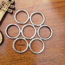 10ps 13mm Fashion Jewelry Scarf Rings Charm Tibet Silver Pendants Accessory 7562