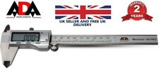 "6"" Digital Vernier Caliper Gauge Large LCD Screen 150mm Steel Water Resistant UK"