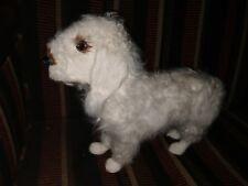 "Bedlington Terrier Dog Plush Doll Statue Figurine 10"" Tall Life Like Real Fur"