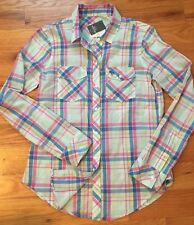 NWT Abercrombie Fitch by Hollister Women Flannel Plaid Long Sleeve Shirt Top XS