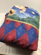 "Harry Potter Reversible Comforter Blanket Twin Size HTF 86""x66"""