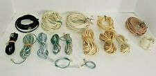 16 Assorted 4-Pin Landline Telephone Cords / Cables, Various Lengths and Colors