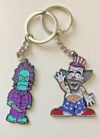 Simpson's Homer Exclusive Key Rings Krusty The Clown And Homer As Jason Voorhees