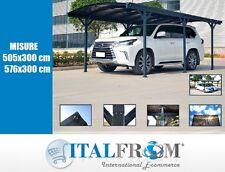 Carport Tettoia Auto in Alluminio Grigio Copertura Garage Gazebo Italfrom