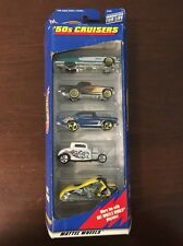 1998 Hot Wheels 5 pack Gift pack 50's CRUISERS NOS Motorcycle Cadillac
