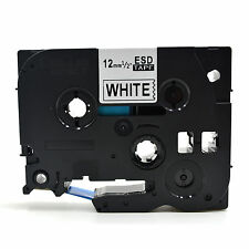 Compatible Etiqueta Cinta tz233 tze233 12mm X 8m Para Brother P-touch Azul Sobre Blanco