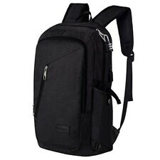 Mens Backpack Usb Laptop 17'' Notebook School Business Water Resistant Charger