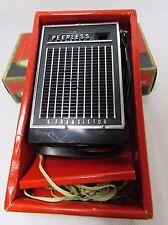 Vintage Peerless Transistor Radio Model 600 Original Box Hand Strap Ear Piece