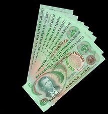 PHILIPPINES 8 PCS LOT P-160 1978 5 PISO UNC BANKNOTES