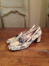 Teddy & Arture Snake Skin Womens Classic Pumps Dress Shoes Size 6 Andy Warhol