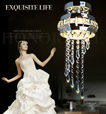 Modern Creative Simple Circular Living Room Bedroom LED Crystal Ceiling Light