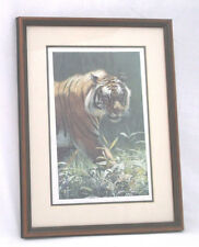 """CATWALK"" Siberian Tiger Terry Isaac '96-Signed/Matted/Frame/316-1500-17 X 13"""