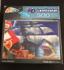 GRAFIX 3D LENTICULAR 500 PIECE JIGSAW PUZZLE PIRATE ADVENTURE