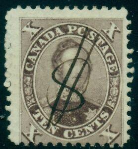 CANADA #17b 10¢ brown, used w/interesting $ cancel