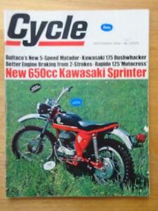 CYCLE Vintage American Magazine Sep.1968 Kawasaki W1SS Bultaco Matador Kawasaki