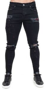 Couture Men's Jeans Club Austin Distressed Jet Black Denim Jeans