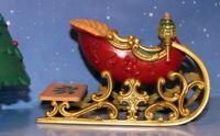 "NIB 2001 Hallmark Keepsake Two Ornament Set ""Santa's Sleigh"" NEW"