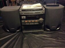 PHILIPS MAGNAVOX MINI HI-FI SYSTEM FW316C - 3 CD ROTARY CHANGER - Mostly Working