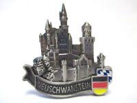 Schloss Neuschwanstein Metall Magnet Bayern Souvenir Germany 5 cm