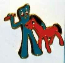 GUMBY & POKEY Metal Enamel Pin VINTAGE 1985 ART CLOKEY SHER-STUFF Genuine 8265