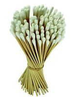 "100pc Cotton Swabs Swab Q-tips 6"" Long Wood Wooden Handle Cleaning Applicators"
