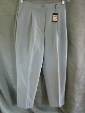 NWT IZOD Golf Womens Size 10 Pants Microfiber Pleated Front Light Teal Green NEW