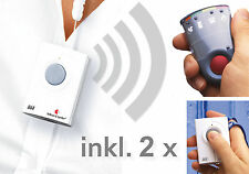 Personenruf -System: 2 Sender+Taschenvibrator-Empfänger
