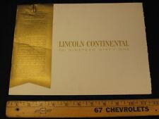 1961 LINCOLN CONTINENTAL Car Catalog Sales Brochure