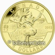 2013 Oh! Canada Series Wildlife Program Caribou $5 1/10 Oz Pure Gold Proof