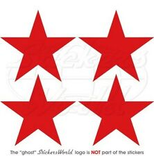"""Soviet USSR Russian AirForce Aircraft WW2 Red Star 50mm (2"""") Stickers, Decals x4"""